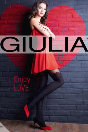Фото Колготки с имитацией чулок и красным сердечком Giulia Enjoy Love 60