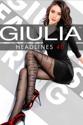 Фото Колготки с надписями GIULIA Headlines 40 model 1