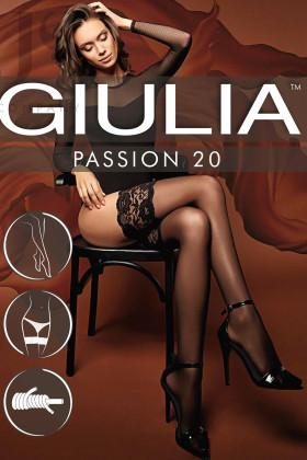 Фото Чулки с широкой коронкой Giulia PASSION 20