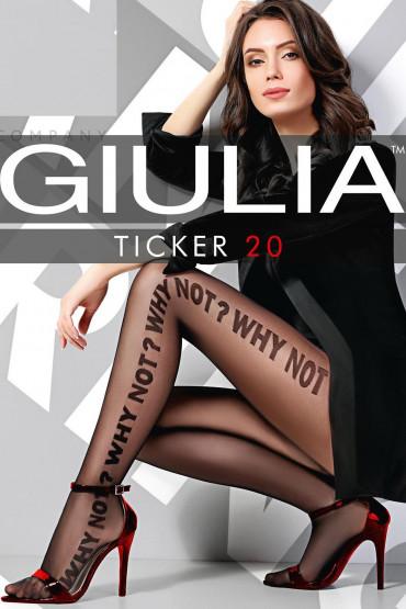 Колготки с надписями GIULIA TICKER 01