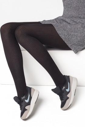 Фото Колготки в рубчик хлопковые Legs L1129 COTONE RIB