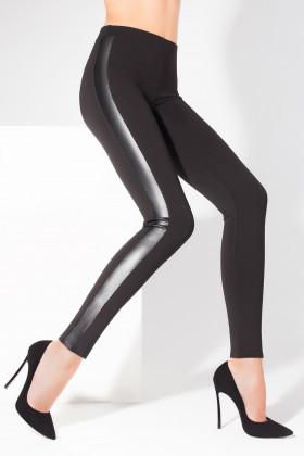 Легінси зі вставками з еко-шкіри Legs L8052 LEGGINGS LEATHER