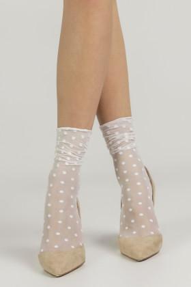 Фото Носочки тюль с декором горошки LEGS L1634 CALZINO POIS