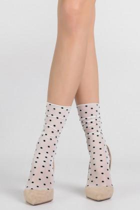 Фото Носочки прозрачные с декором горошки LEGS L1634 CALZINO POIS