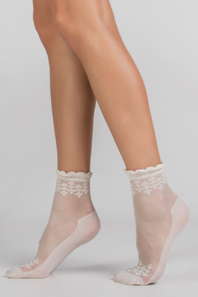 Фото Носочки прозрачные с декором LEGS L1625 CALZINO POIS