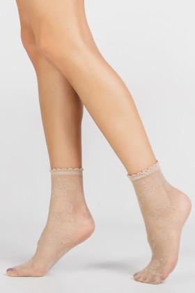 Фото Носочки ажурные микротюль LEGS L1624 CALZINO PIZZO RETE