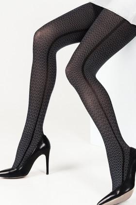 Фото Колготки с геометрическим принтом LEGS L1304 SPINATO