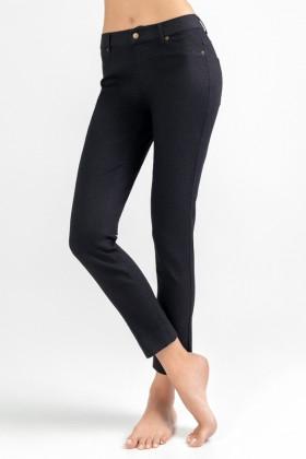 Джеггинсы женские черные LEGS L1453 LEGGINGS JEANS