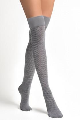 Заколенки хлопковые серые LEGS L1520 PARIGINA ROMBI COTONE