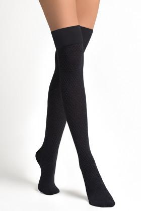 Высокие гольфы-заколенки LEGS L1520 PARIGINA ROMBI COTONE