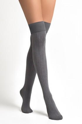 Заколенки хлопковые серые LEGS L1521 PARIGINA TRECCIA COTONE