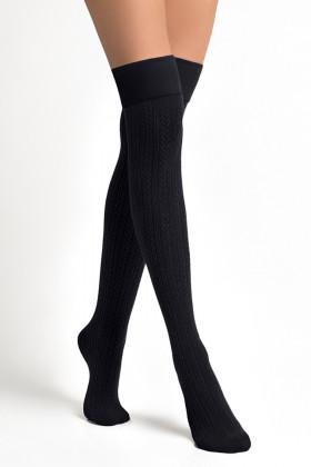 Высокие гольфы-заколенки хлопковые LEGS L1521 PARIGINA TRECCIA COTONE