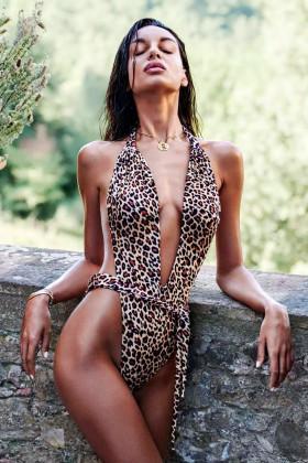 Купальник цільний леопардовий Obsessive Cancunella