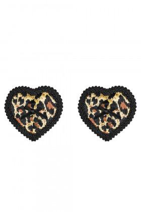 Накладки на груди леопардові Obsessive Selvy