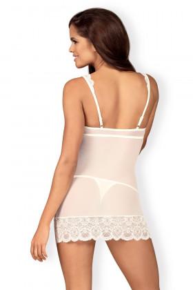 Сорочка прозрачная со стрингами Obsessive 853-CHE-2