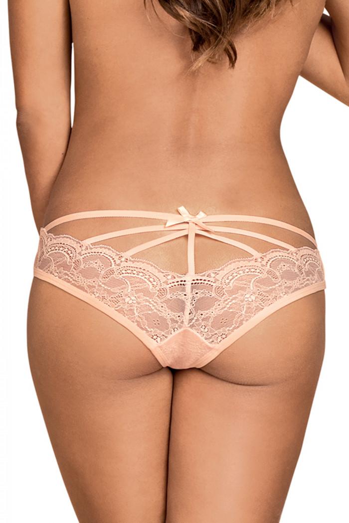 Трусики кружевные розовые Obsessive Frivolla panties