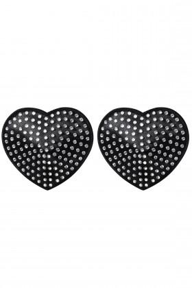Накладки-сердечки на грудь со стразами Obsessive A750