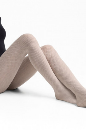 Колготки бавовняні з візерунком LEGS L1515 ROMBI COTONE