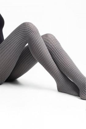 Теплі колготки з візерунком LEGS L1514 TRECCIA MODAL