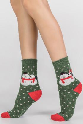 Носки новогодние с ангорой LEGS SA6 SOCKS ANGORA TERRY