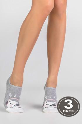 Носки низкие хлопковые LEGS SOCKS EXTRA LOW 76 (3 пары)
