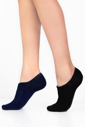 Носки короткие с люрексом LEGS SOCKS EXTRA LOW 8 (2 пары)