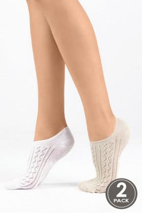 Носки хлопковые ажурные LEGS SOCKS EXTRA LOW 9 (2 пары)