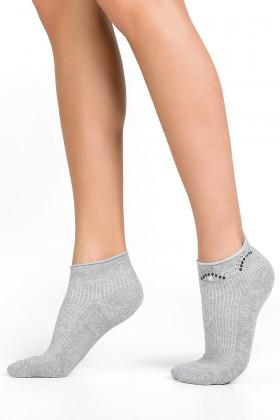"Носки со стразами с принтом ""Глазки"" LEGS SOCKS LOW 83"