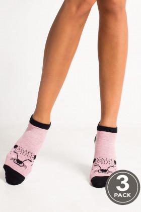 Носки женские с принтом LEGS SOCKS LOW 86 (3 пары)