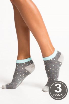 """Носки женские с принтом """"Барашки"""" LEGS SOCKS LOW 87 (3 пары)"""