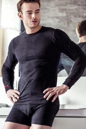 Мужская хлопковая термо-футболка с длинными рукавами Key MVD 155 Hot Touch