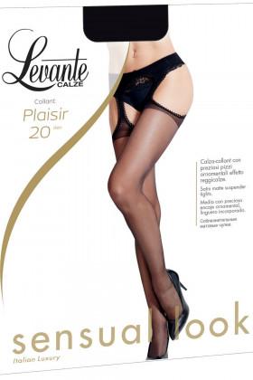 Чулки-колготки с кружевным поясом LEVANTE Plaisir 20