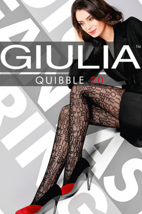 Колготки з написами GIULIA Quibble model 1