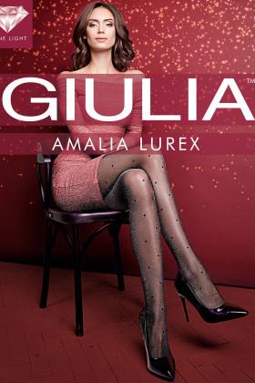 Колготки в горошок з люрексом GIULIA Amalia Lurex model 1