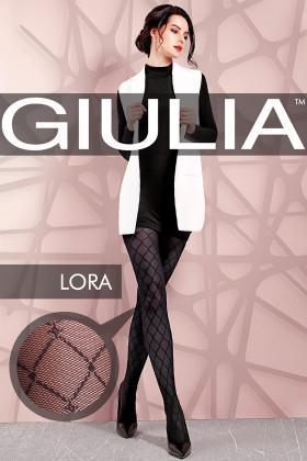 """Колготки з візерунком """"Ромб"""" GIULIA Lora model 2"""