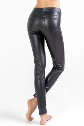 Леггинсы из эко-кожи утепленные Legs L1730 LEGGINGS THERMAL