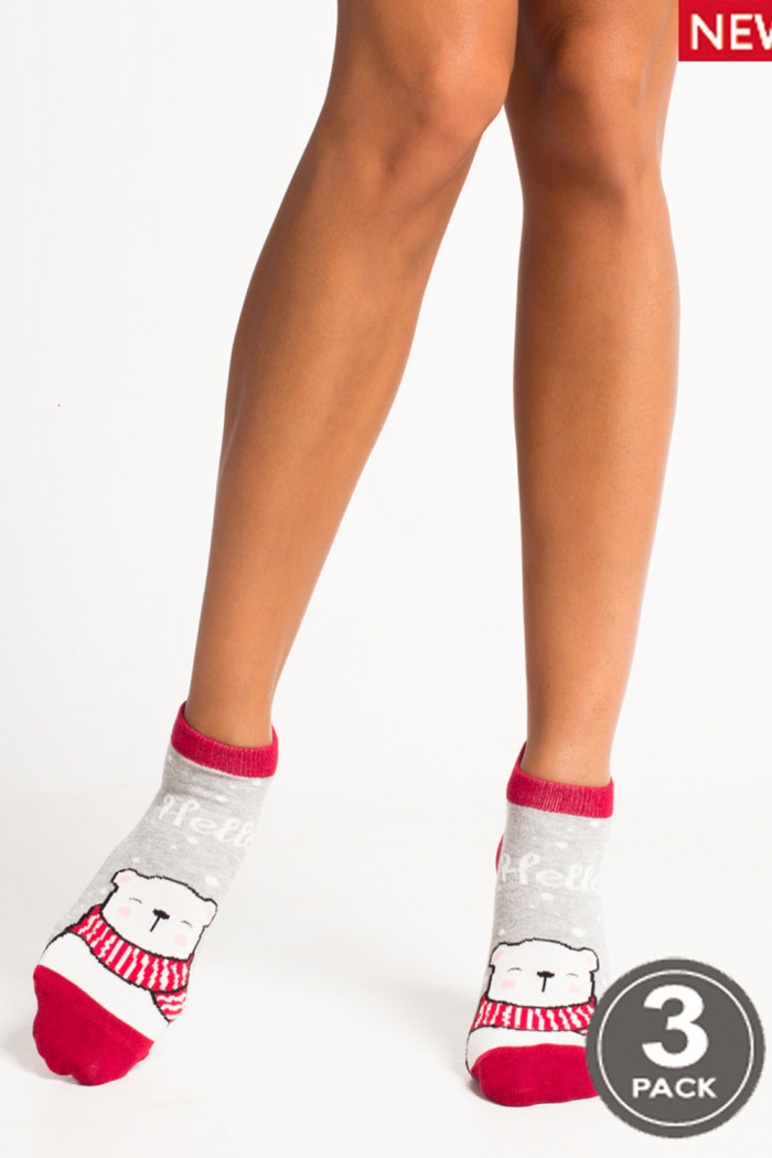 Носки хлопковые короткие LEGS SOCKS LOW 89 (3 пары)