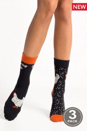 Носки хлопковые с принтом LEGS SOCKS 92 (3 пары)