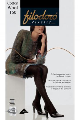 Бавовняні колготки з шерстю Filodoro Cotton Wool 160 den