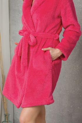 Женский теплый халат с капюшоном Key LGD 117 B20