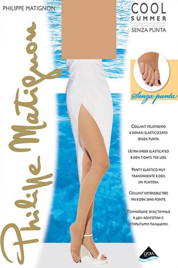 Колготки з відкритим носком PHILIPPE MATIGNON Cool Summer Senza Punta 8 den