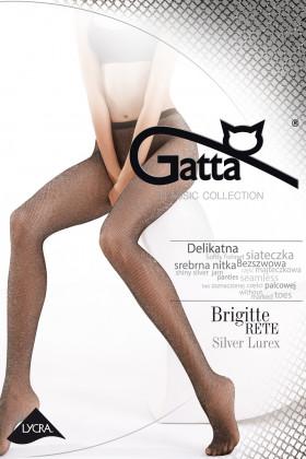Колготки в середню сітку з люрексом Gatta Brigitte 02 Silver