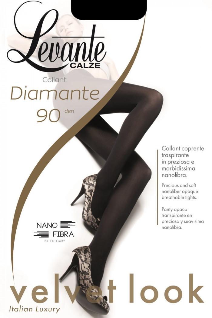 Щільні колготки з мікрофібри LEVANTE Diamante 90 den