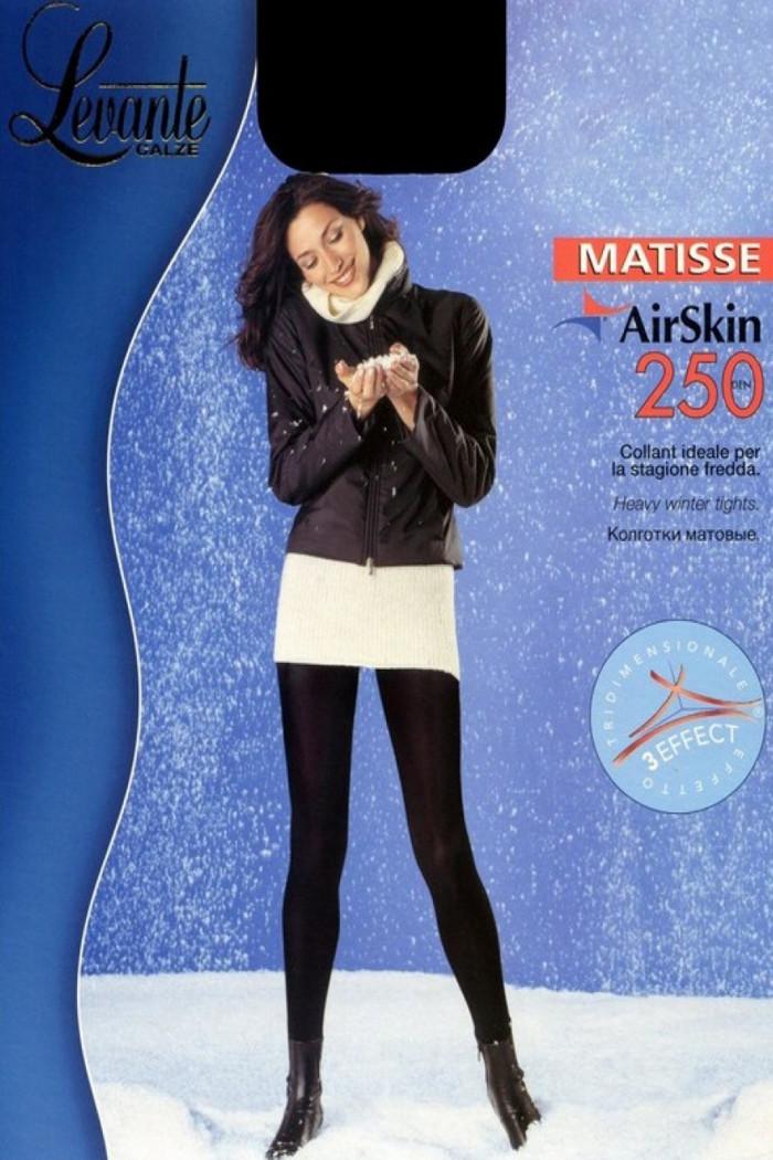 Теплі колготки з мікрофіброю LEVANTE Matisse AirSkin 250 den