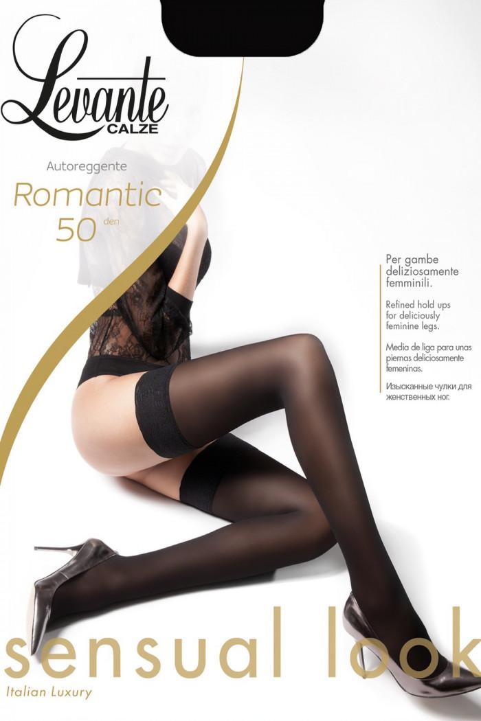 Чулки с кружевной коронкой Levante Romantic 50 den
