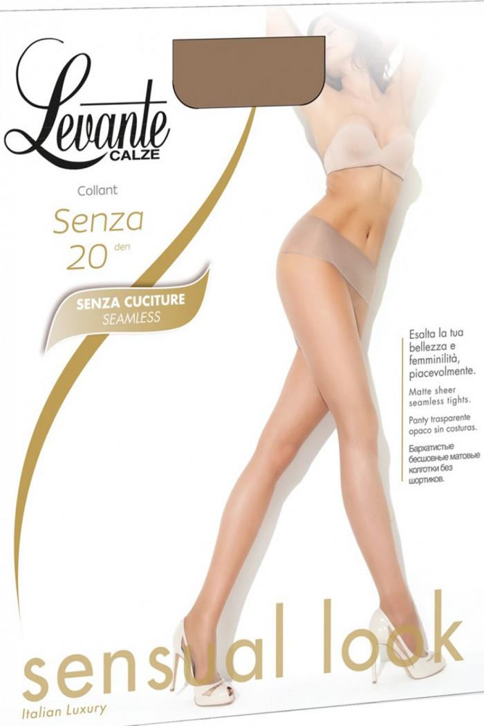 Безшовні колготки з низькою талією Levante Senza 20den