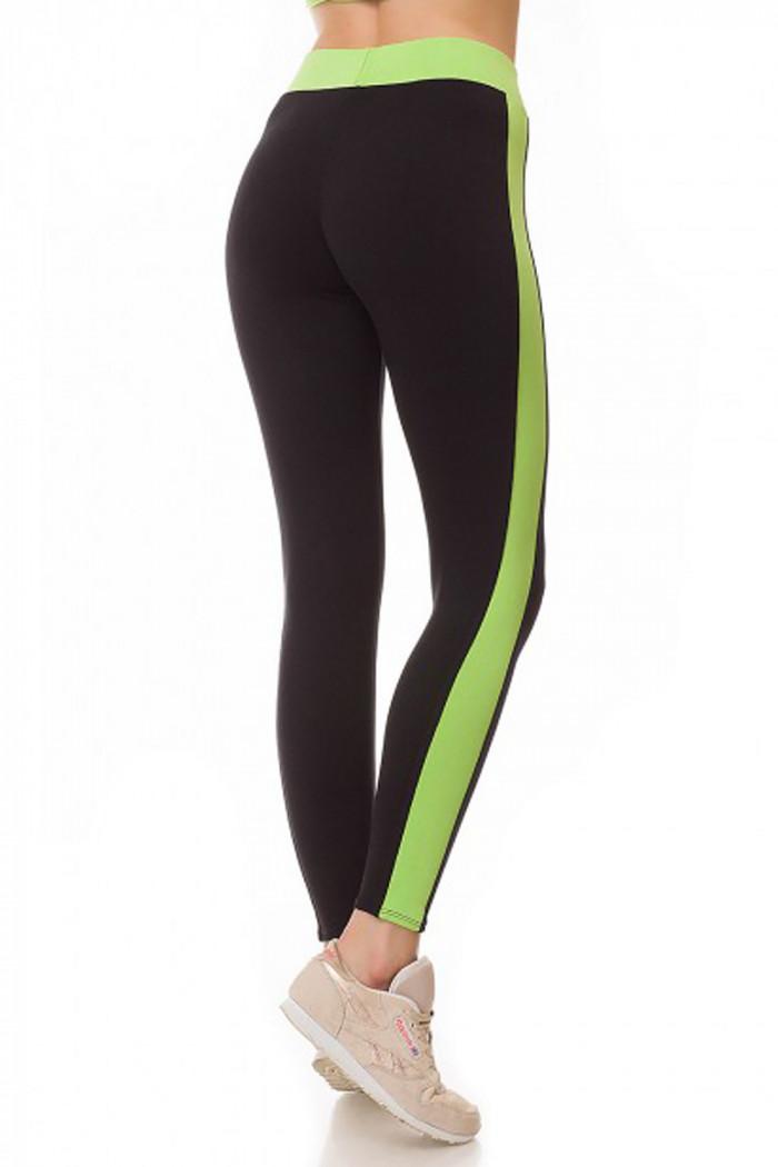 Легінси спортивні з зеленими вставками GIULIA LEGGINGS SPORT
