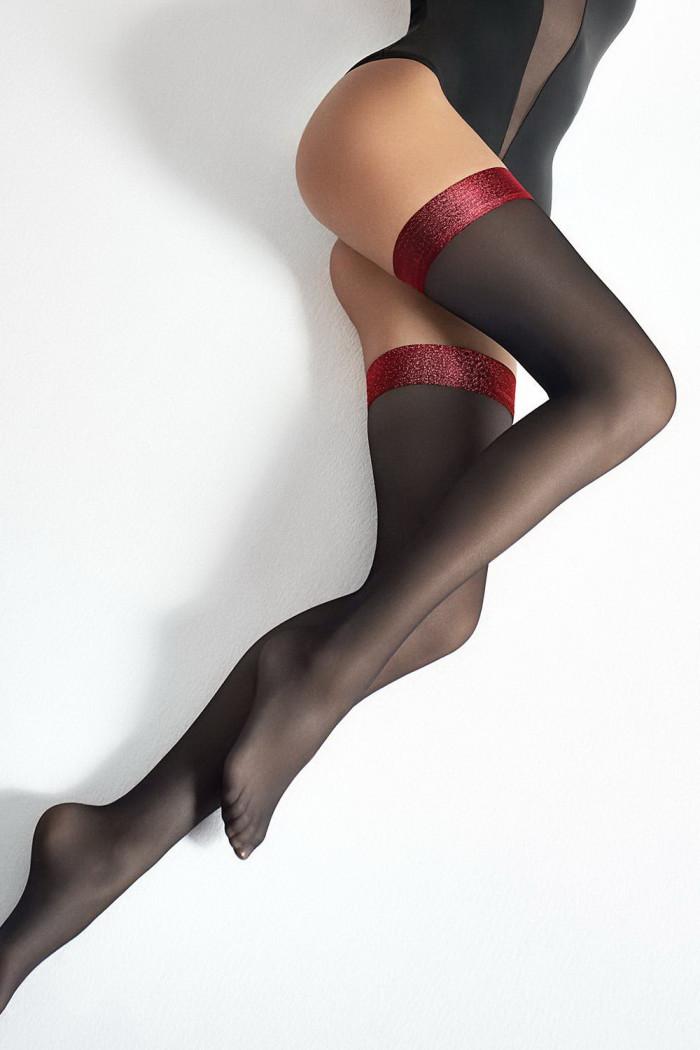 Чулки с красной коронкой Marilyn COCO T21