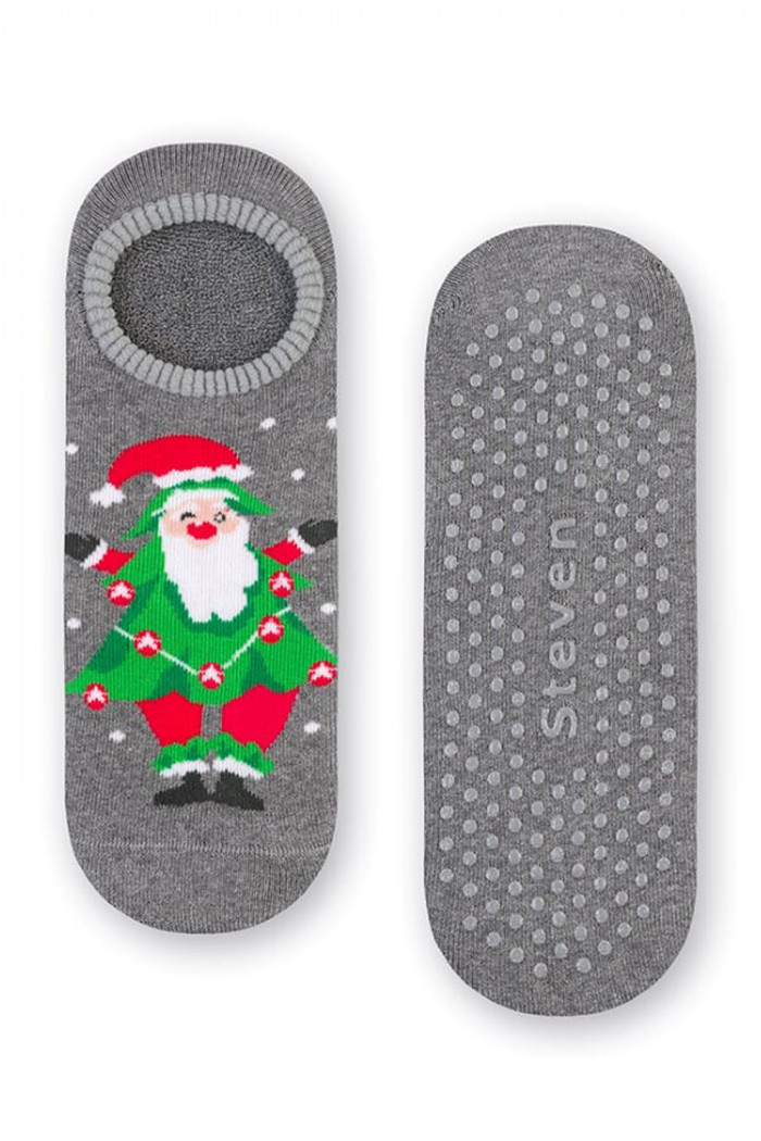 Новорічні махрові шкарпетки-сліди ABS Steven art.132 New Year