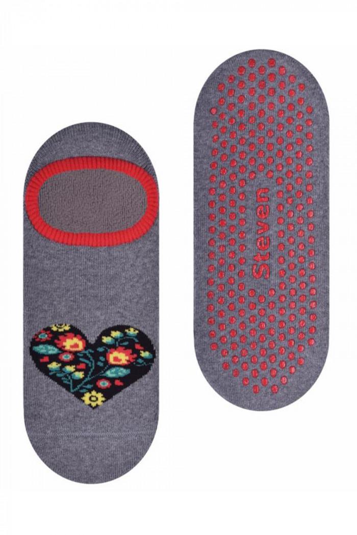 Махровые носки-следы ABS Steven art.132 Folk